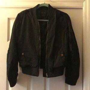 Black Bomber Jacket!!